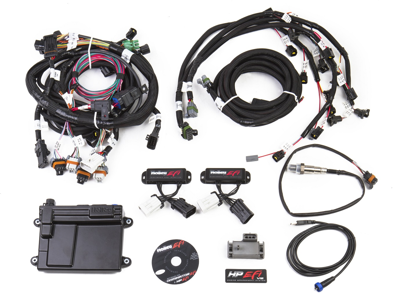 Holley 550 616small hp efi ecu & harness kits 99 04 2v ford mod motor (bosch wideband ford engine harness at edmiracle.co